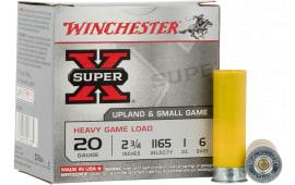 "Winchester Ammo XU20H6 Super-X Heavy Game Load 20GA 2.75"" 1oz #6 Shot - 25sh Box"