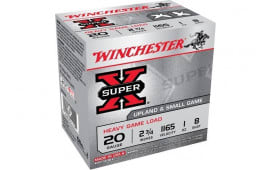 "Winchester Ammo XU20H8 Super-X Heavy Game Load 20GA 2.75"" 1oz #8 Shot - 25sh Box"