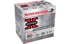 "Winchester Ammo XU207 Super-X Game Load 20GA 2.75"" 7/8oz #7.5 Shot - 25sh Box"
