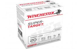 "Winchester Ammo TRGT208 Super Target 20GA 2.75"" 7/8oz #8 Shot - 25sh Box"
