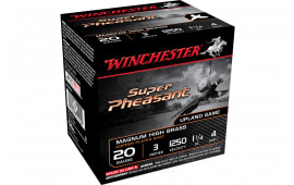 "Winchester Ammo X203PH4 Super Pheasant Magnum High Brass 20GA 3"" 1 1/4oz #4 Shot - 25sh Box"