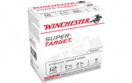"Winchester Ammo TRGTL129 Super Target Xtra-Lite 12GA 2.75"" 1oz #9 Shot - 25sh Box"