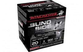 """Winchester Ammo SBS2032 Blindside 20GA 3"""" 1 1/16oz #2 Shot - 25sh Box"""