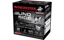 "Winchester Ammo SBS123HV3 Blindside High Velocity 12GA 3"" 1 1/8oz #3 Shot - 25sh Box"
