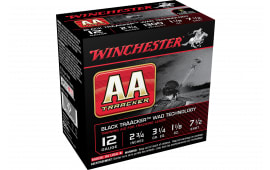 "Winchester Ammo AASC127TB AA TrAAcker Black Traacker Wad Tech 12GA 2.75"" 1 1/8oz #7.5 Shot - 25sh Box"