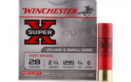 "Winchester Ammo X286 Super-X High Brass 28GA 2.75"" 3/4oz #6 Shot - 25sh Box"