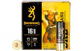 """Browning Ammo B193511626 BXD Upland 16GA 2.75"""" 1 1/8oz #6 Shot - 25sh Box"""