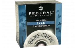 "Federal H1234 Game-Shok Upland Heavy Field 12GA 2.75"" 1 1/8oz #4 Shot - 25sh Box"