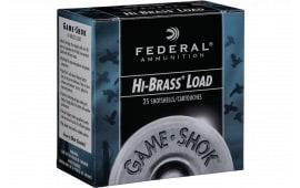 "Federal H1634 Game-Shok Upland Hi-Brass 16GA 2.75"" 1 1/8oz #4 Shot - 25sh Box"