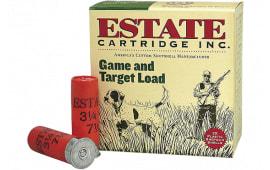 "Estate GTL2075 Hunting Loads Game & Target 20GA 2.75"" 7/8oz #7.5 Shot - 25sh Box"