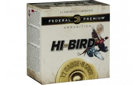"Federal HVF126 Premium Upland Hi-Bird 12GA 2.75"" 1 1/8oz #6 Shot - 25sh Box"