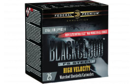 "Federal PWBXH1434 Black Cloud F S Steel High Velocity 12GA 3"" 1 1/8oz #4 Shot - 25sh Box"