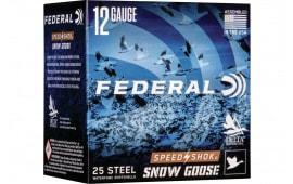 """Federal WF142SGBB Snowgoose 12 3"""" 11/4 25/10STL - 25sh Box"""