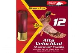 "Aguila 1CHB1204 Field 12GA 2.75"" 1 1/4oz #4 Shot - 25sh Box"