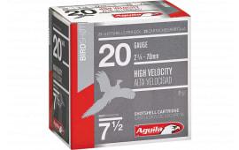 """Aguila 1CHB2048 Field 20GA 2.75"""" 1oz #8 Shot - 25sh Box"""