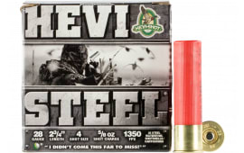 "HEVI-Shot 62804 Hevi-Steel 28GA 2.75"" 5/8oz #4 Shot - 25sh Box"