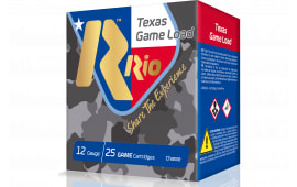 "RIO Ammunition TGHV368TX Top Game Texas Game Load High Velocity 12GA 2.75"" 1-1/4oz #8 Shot - 25sh Box"