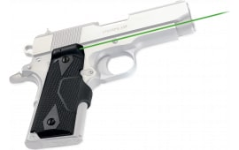 Crimson Trace LG404G Lasergrips 1911 Compact/Front Activation Green Laser Officer/Defender Grip