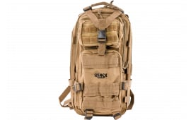 """Rukx Gear Tactical 1 Day 600D Polyester 18"""" x 11"""" x 11"""" Tan"""
