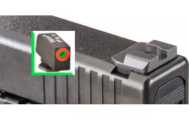 AmeriGlo GL434 Hackathorn Sight Glock 20/21/29/30/31/32/36/40/41 Steel Green w/Orange Outline Black