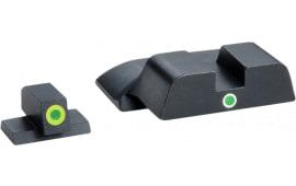 AmeriGlo SW301 i-Dot Night Sight S&W M&P Steel Green w/Lime Outline Black