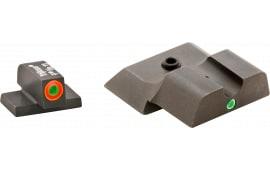 AmeriGlo SW245 i-Dot Night Sight S&W M&P Shield Tritium/Paint Green w/Orange Outline Black