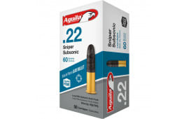 Aguila Sniper Super Subsonic (SSS) .22 LR ammunition - 60Gr Lead Round Nose - 1000rd Case