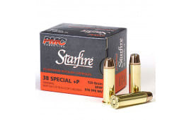 PMC Gold Starfire .38 Special +P 125gr Jacketed Hollow Point Defense/Hunting Load 20rd Box - PMC38SFA