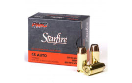 PMC Gold Starfire .45 ACP 230 GR Jacketed Hollow Point Defense/Hunting Load 20rd Box - PMC45SFA