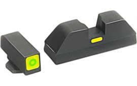 AmeriGlo GL605 CAP Night Sight Glock 42/43 Tritium/Paint Green w/Lime Outline Black