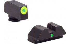 AmeriGlo GL305 i-Dot Night Sights Glock 42/43 Steel Green w/Lime Outline Black