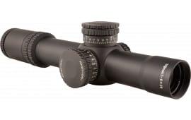 Trijicon 1900027 AccuPower 1-8x 28mm Obj 109.2-13.1 ft @ 100 yds FOV 34mm Tube Dia Black MOA Crosshair