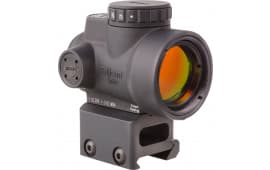 Trijicon 2200005 MRO 1x 25mm Obj Unlimited Eye Relief Illuminated Red Dot 2 MOA Black Hard Coat Anodized with Mount
