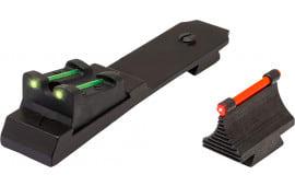 Truglo TG109 Lever Action Rifle Set Marlin Tritium/Fiber Optic Red Front Green Rear Black