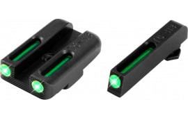 TruGlo TG131GT1A Brite-Site TFO Glock 42/43 Tritium/Fiber Optic Green Black