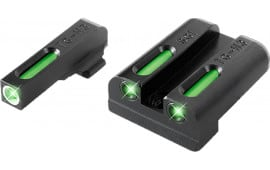 TruGlo TG13SG2A TFX Day/Night Sights Sig Sauer Tritium/Fiber Optic Green w/White Outline Front Green Rear Black