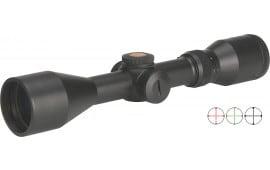 "Truglo TG8539BXB Tru-Brite 3-9x 44mm Obj 40.3-13.8 ft @ 100 yds FOV 1"" Tube Dia Black Matte Dual Illuminated BDC"