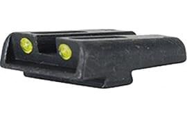 TruGlo TG131GT1Y Brite-Site TFO Glock 17/17L/19/22/23/24/26/27/33/34/35 Tritium/Fiber Optic Green Front Yellow Rear Black