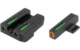 Truglo TG13FN1PC TFX PRO FNX 9 Fiber Optic Green Tritium w/Orange Outline Front Green Rear Black
