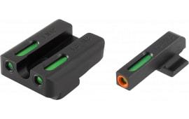TruGlo TG13FN3PC TFX PRO FNX 45 Fiber Optic Green Tritium w/Orange Outline Front Green Rear Black