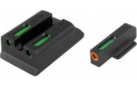 TruGlo TG13RS1PC TFX PRO Ruger SR9/SR40/SR45 Green w/Orange Outline Front Green Rear Black