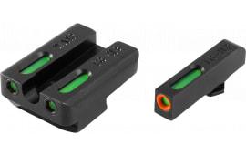 TruGlo TG13WA1PC TFX PRO Walther PPQ Green w/Orange Outline Front Green Rear Black