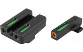 TruGlo TG13XD1PC TFX PRO Springfield XD Green w/Orange Outline Front Green Rear Black