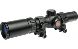Truglo TG8514BC TruBrite 1-4x 24mm Obj 92.6-23.03 ft @ 100 yds FOV 30mm Tube Dia Black Circle Duplex