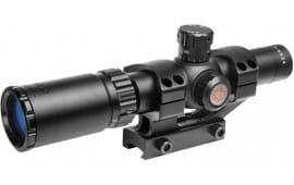 TruGlo TG8514BT TruBrite 1-4x 24mm Obj Wide FOV 30mm Tube Dia Black Fine Crosshair