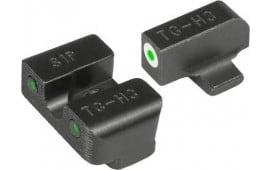 Truglo TG231S1W Tritium Pro Night Sights Sig Sauer 8/8 Steel Green Tritium w/White Outline Steel Green Tritium Black