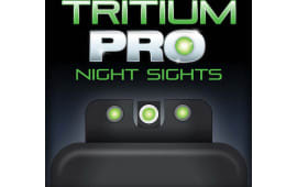 TruGlo TG231R2W Tritium Pro Night Sights Ruger LC9/LC9s/LC380 Steel Green Tritium w/White Outline Steel Green Tritium Black