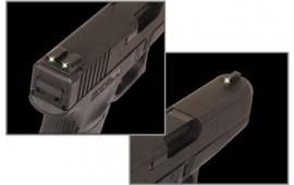 Truglo TG231G2 Brite-Site Tritium Glock 10mm/45 Cal Tritium Green Black