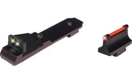 Truglo TG114 Lever Action Rifle Set Henry Lever Tritium/Fiber Optic Red Front Green Rear Black