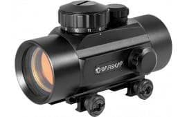 Barska AC10328 Red Dot 1x 30mm Obj Unlimited Eye Relief 5 MOA Black Matte